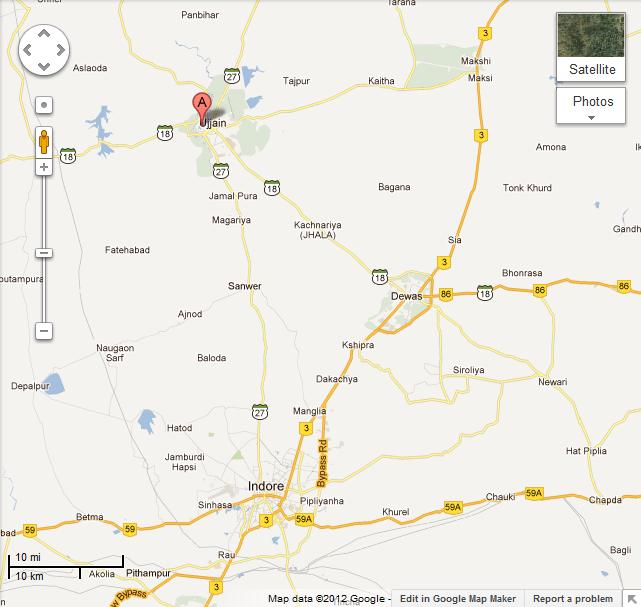 Ujjain India Map.Mahakaleshwar Ujjain Map Shivshankar In